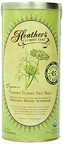 (Teas Organic Fennel Tea Bags (45 Jumbo Teabags) for IBS, 8.82 Ounce)