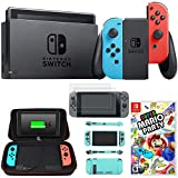 Nintendo Switch 32 GB Console with Neon Blue and Red Joy-Con + Mario Party Sky Bundle