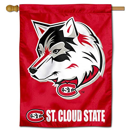 SCSU Huskies House Flag Banner
