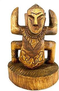 Artisanal Totem Ethnique en Bois - Statue Style Koh Lanta