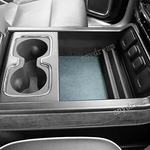 Secret Compartment Center Console Organizer Tray for GMC Sierra Accessories 2014 2015 2016 2017 2018