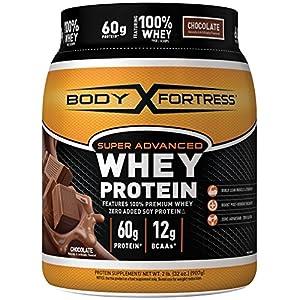 Body Fortress Super Advanced Whey Protein Powder, Gluten Free, Chocolate, 2 lbs
