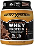 Body Fortress Super Advanced Whey Protein is the ideal post-workout protein supplement featuring 100% Premium Whey enhanced with Creatine and other critical Amino Acids. For adults, add one (1) scoop to 6-8 ounces or two (2) scoops to 14-16 ounces of...