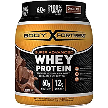 Body Fortress Super Advanced Whey Protein, Chocolate Protein Supplement Powder to Build Lean Muscle & Strength 1-2lb Jar.