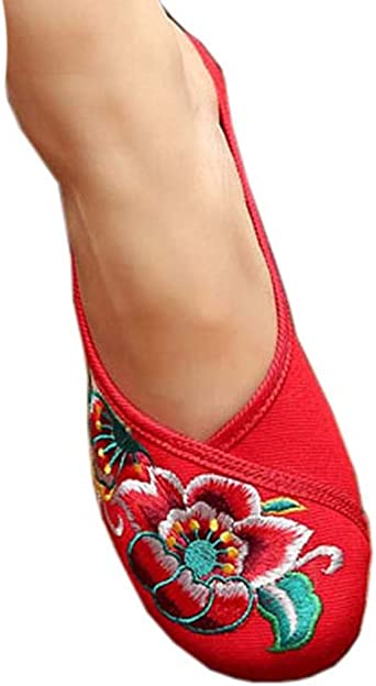 Womens Embroidered Summer Slippers Wedges Sandals Shoes for Cheongsam 03