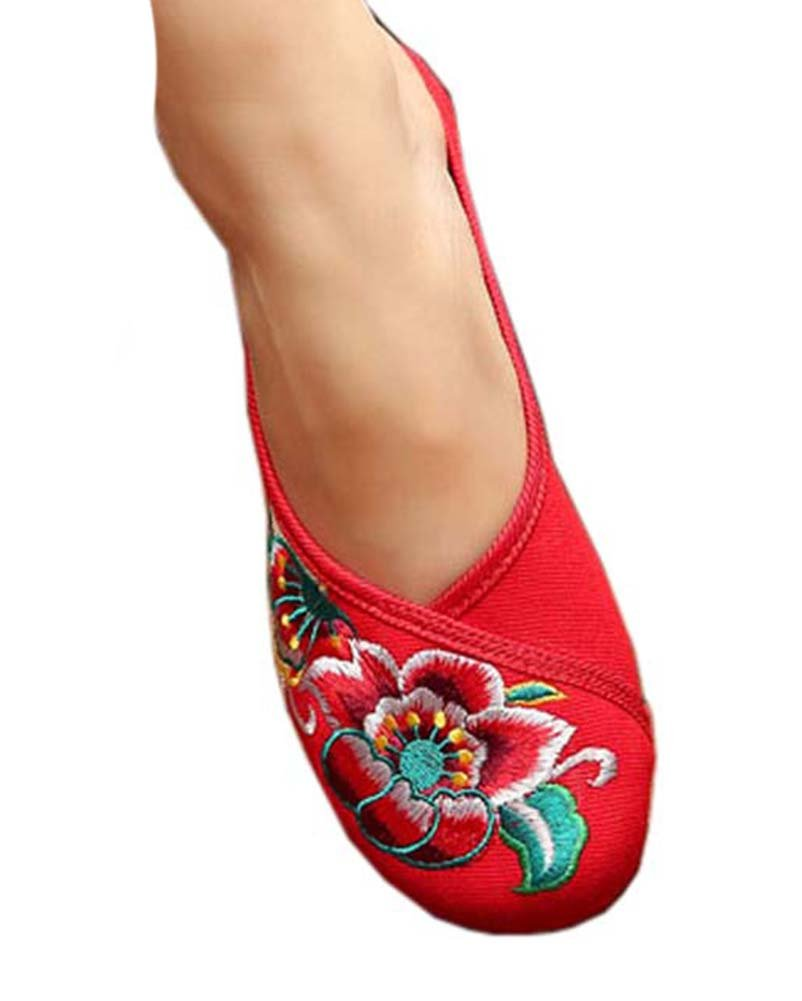 Womens Embroidered Summer Slippers Wedges Sandals Shoes for Cheongsam, 10 GJ-CLO2229582011-HERMINE02938