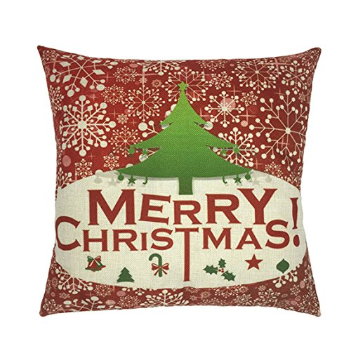Nation Pillow Case Clearance ♥ Xmas Christmas Sofa Bed Home Decoration Festival Cushion Cover (F) Christmas Decorations
