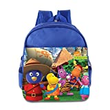 Kids The Backyardigans School Backpack Funny Baby Boys Girls School Bag RoyalBlue