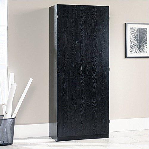 Sauder Storage Cabinet - Ebony Ash (Black Storage Cabinet)