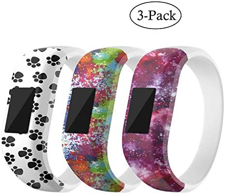 MICHIKO for Garmin Vivofit Bands Cute Cartoon/Sport Colorful Adjustable Replacement Soft Silicone Band Wristbands Bracelet Straps Accessory Fit Garmin Vivofit 3/ Vivofit JR/Vivofit 4 Tracker