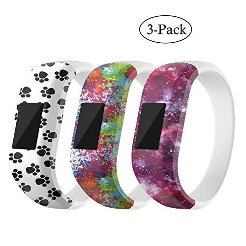 MICHIKO for Garmin Vivofit JR Bands, Cute Cartoon Soft Silicone Replacement Band Wristbands Bracelet Straps Accessory Fit Garmin Vivofit 3/ Vivofit JR/Vivofit JR 2 for Kids