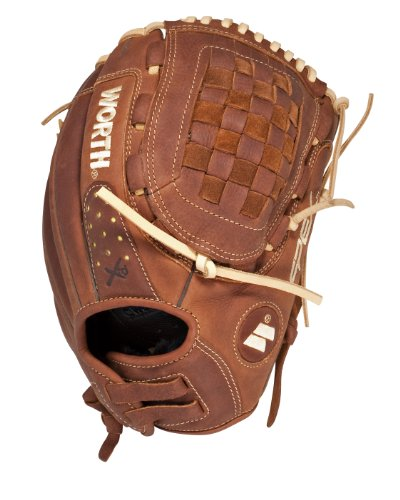 Worth Fastpitch Softball Century Series 12-inch Softball Glove, Left-Hand Throw (C120X-0/3) (Womens Fastpitch Worth Softball)