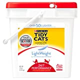 Purina Tidy Cats Light Weight, Dust Free, Clumping Cat Litter;  LightWeight 24/7 Performance Multi Cat Litter - 17 lb. Pail