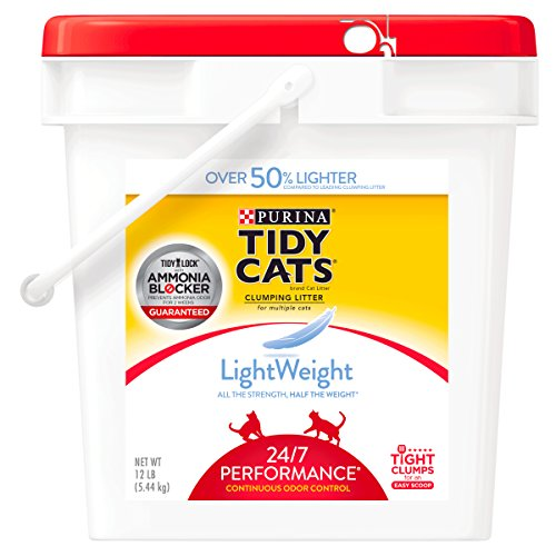 Purina Tidy Cats LightWeight 24/7 Performance for Multiple Cats Clumping Dust Free Cat Litter - 12 lb. Pail ()