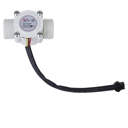 """Sensor de Flujo de Agua 3/4"""" Rosca Externa 1-60L / min"""