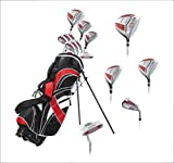 15 Piece Ladies Womens Complete Golf Clubs Set Titanium Driver, S.S. Fairway, S.S. Hybrid, S.S. 6-PW Irons, Sand Wedge, Putter, Stand Bag, 3 H/C's Petite Size for Ladies 5'3'' and Below - Right Hand