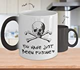 You have just been poisoned mug - skull crossbones halloween morphing cup