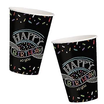 8 vasos Pizarra adhesiva * * para fiestas de cumpleaños ...