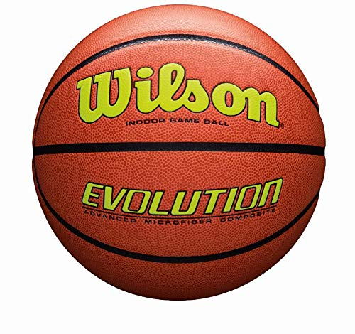 Wilson Evolution Game Basketball, Yellow, Official Size - 29.5