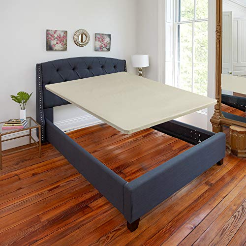 Mayton 1.5-Inch Queen Size Bunkie Board for Mattress Solid Wood Bed Support No Assembly Required, 59x79, 59x79