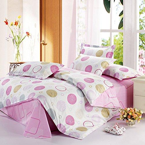 TOP SHOP Home FTSUCQ Music Pink Linen Bed Sheets Quilt Covers Bed Mattress Bedding Four-PCS Sets,size-3 (Kidsline Sheet Top)