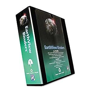 """Aurora Productos 20388 Earthview Ronda Anillo Presentaci-n Binder-2 \""""Capacidad-Negro"""