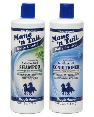 Hot Mane'n Tail Pyrithione Zinc Anti-Dandruff Shampoo and Conditioner 16 oz