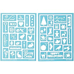 Martha Stewart Crafts Adhesive Stencils (5.75 by 7.75-Inch), 32304 46 Holiday Icons II Designs (92509)