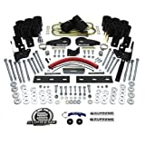 """Supreme Suspensions - F150 Lift Kit 6"""" Front Suspension and Body Lift High-Strength Carbon Steel + 5"""" Rear Body and Suspension Lift CNC Machined Aircraft T6 Billet + Body Lift Kit CNC Machined High-Crystalline Delrin Ford F150 Leveling Kit 4WD 4x4 (Black) PRO"""