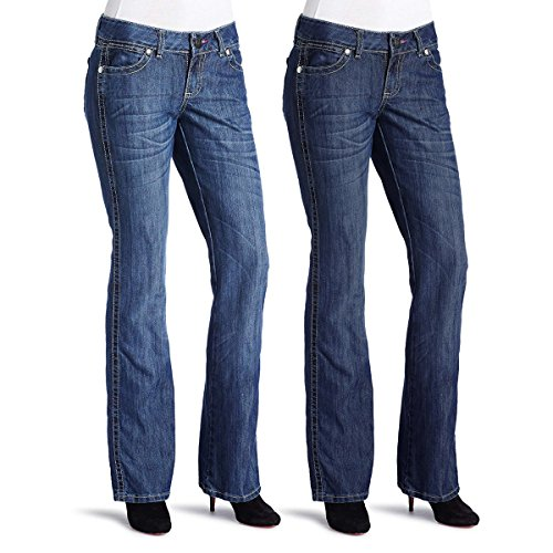 Wrangler Jeans (2 Pack) Classic Denim Low Rise Jeans for Women Bootcut Stonewash Jean Pants