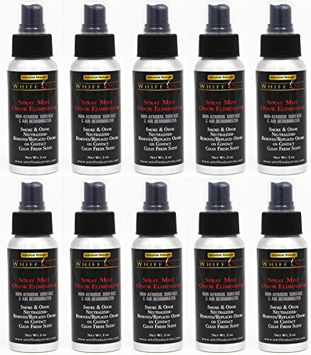 Whiff Out 2oz Spray Mist 10 Pack - Non-Aerosol Surface & Air Deodorizer & Odor Neutralizer | Removes/ Replaces Odor on Contact by Whiff Out