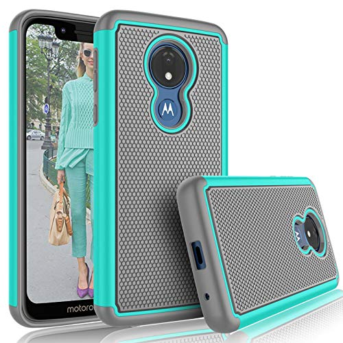 Moto G7 Play Case, T-Mobile Revvlry/Moto G7 Optimo (XT1952DL) Cute Case, Tekcoo [Tmajor] Shock Absorbing [Turquoise] Rubber Silicone Plastic Scratch Resistant Bumper Sturdy Hard Phone Cases Cover