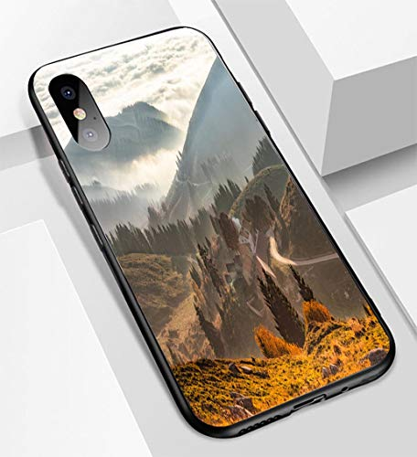iPhone X/XS Ultra-Thin Glass Back Phone case,Monte Grappa Veneto Treviso Italy 32 Soft and Easy to Protect The Protective case ()