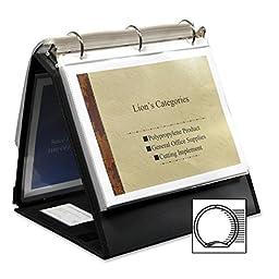 Lion Insta-Cover Ring Easel Binder - Letter - 8.5\