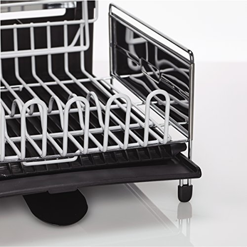 Sabatier Expandable Dish Rack With Soft Touch Coating Import It All New Sabatier Expandable Dish Rack With Soft Touch Coating