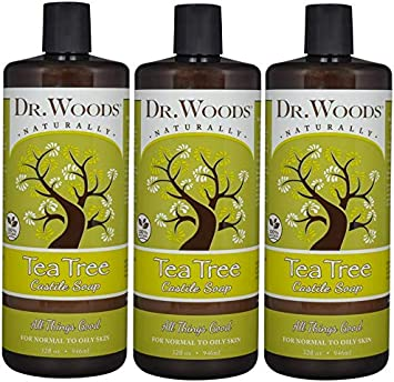 Dr. Woods Pure Tea Tree Liquid Castile Soap, 32 Ounce Pack of 3