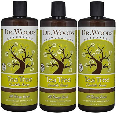 Dr. Woods Pure Tea Tree Liquid Castile Soap, 32 Ounce (Pack of 3)