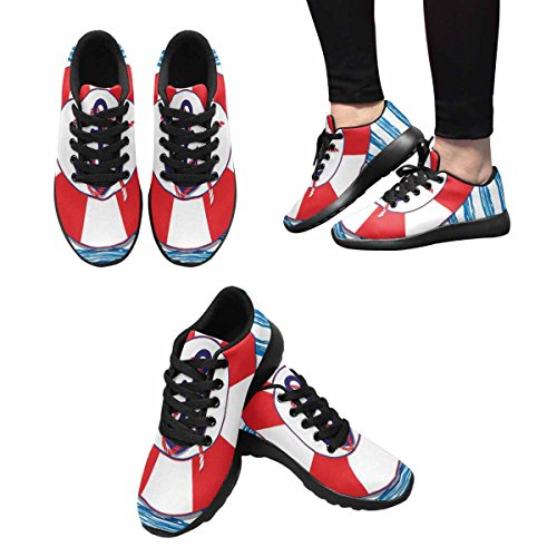 InterestPrint Womens Trail Running Shoes Jogging Lightweight Sports Walking Athletic Sneakers Nautical Marine An Anchor and A Lifeline Multi 1 cvfKy