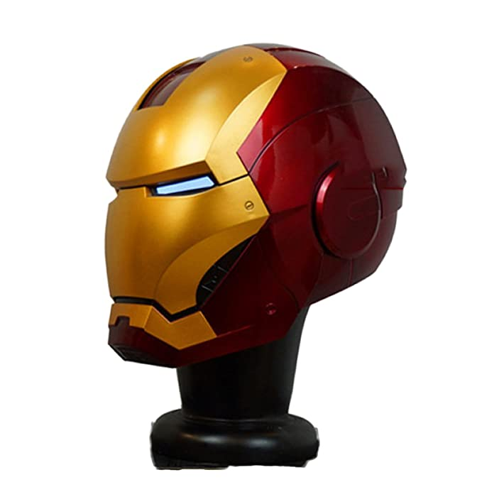 Iron Man Casco MK46 MK7 Inteligencia Artificial 1/1 Real Halloween Cospolay Casco Apertura Y