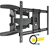 Invision Ultra Strong TV Wall Bracket Mount - For 94-178cm (37-70 Inch) LED LCD Plasma & Curved Screens – Double Arm Tilt Swivel Feature – Includes 1080p HDMI Cable & Spirit Level (HDTV-DXL)