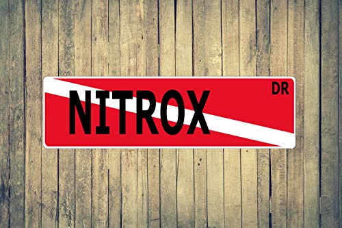 Nitrox Dive Flag Aluminum Street Sign Indoor Outdoor for sale  Delivered anywhere in USA