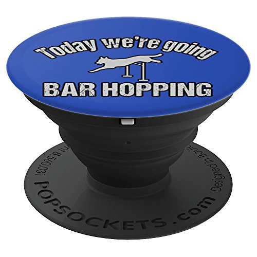 Agility Dog Bar Hopping - PopSockets Grip and Stand for Phones and Tablets by PT Accessories