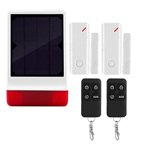 Kit de Sistema de Alarma de Seguridad, Sirena Solar ...