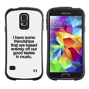 Suave TPU GEL Carcasa Funda Silicona Blando Estuche Caso de protección (para) Samsung Galaxy S5 / CECELL Phone case / / Good Taste Music Friendship Quote Love /