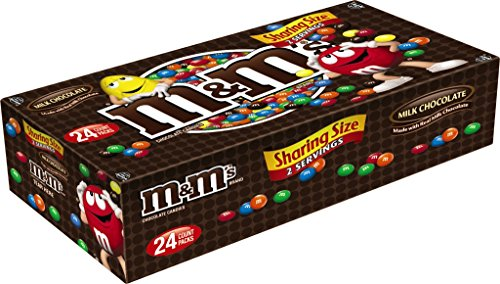 M&M'S Milk Chocolate Candy Sharing Size 3.14-Ounce Pouch 24-Count Box]()