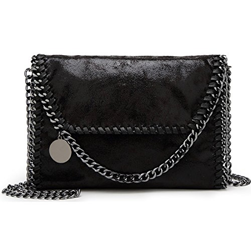 Casual Large Handbags (Donalworld Women Chain Paillette Large Casual Tote PU Leather Shoulder Bag S Sbk4)