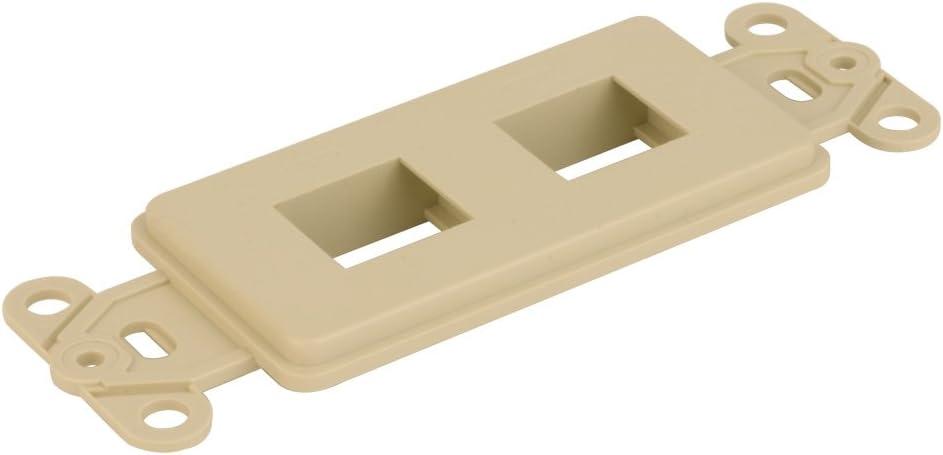 Keystone Decora Style Insert Strap 2 Ports Ivory