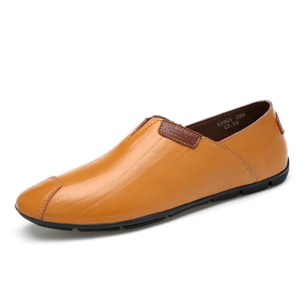 Mocasines de conducción de Moda de los Hombres Slip on Mocasines cómodos Zapatos Casuales 38 EU|Light Brown
