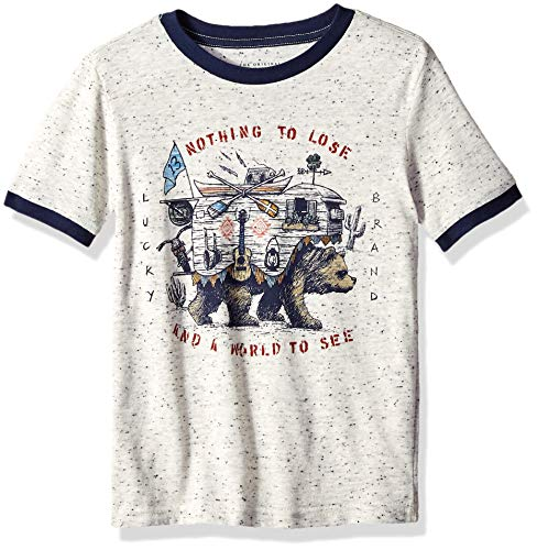 Lucky Brand Big' Boys' Short Sleeve Printed Tee Shirt, Turtle Dove, M
