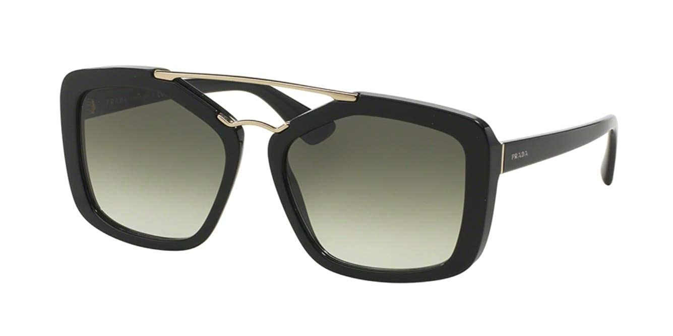 40cf0a2c1a870 Prada PR 24RSF Sunglasses 1AB0A7 Black 56-17-140  Amazon.co.uk  Clothing